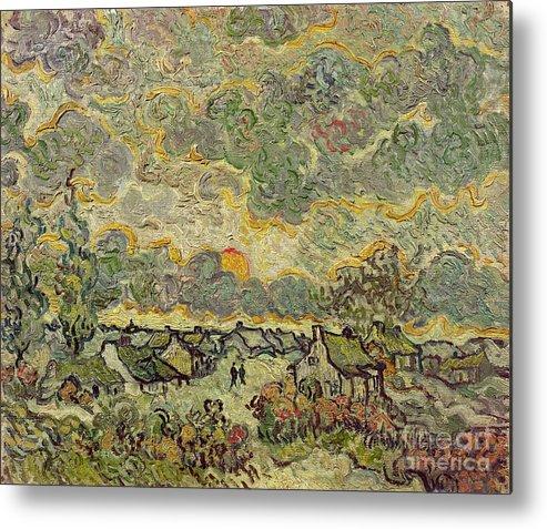Autumn Metal Print featuring the painting Autumn Landscape by Vincent Van Gogh