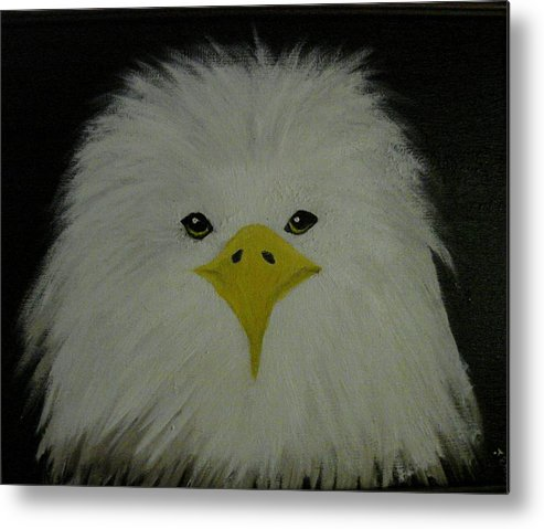 Eagle Metal Print featuring the painting Baby Eagle by Dottie Briggs