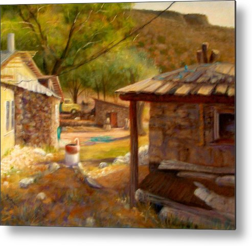 Realism Metal Print featuring the painting Below Taos 1 by Donelli DiMaria