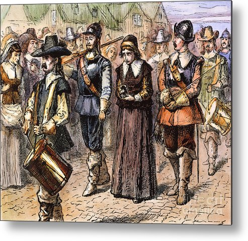 1660 Metal Print featuring the photograph Boston: Mary Dyer, 1660 by Granger