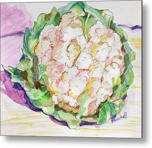 Cauliflower Metal Print featuring the painting Califlower by Jan Bennicoff