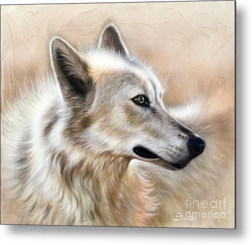 Acrylic Metal Print featuring the painting Cheyenne by Sandi Baker