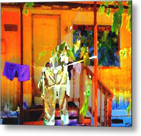 Metal Print featuring the digital art Clothesline by Danielle Stephenson