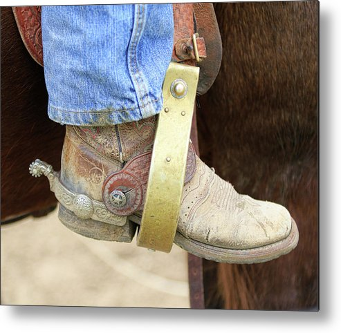 Boot Metal Print featuring the photograph Cowboy Boot by Steve McKinzie