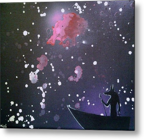 Galaxy Metal Print featuring the painting Crossing The River Styx by Nicci Bedson