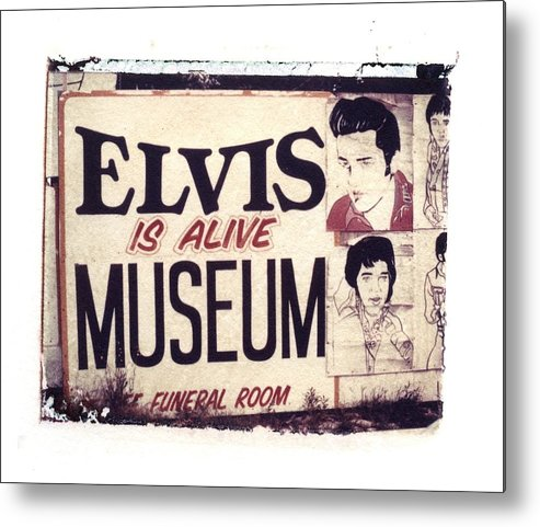 Polaroid Transfer Metal Print featuring the photograph Disgraceland No. 2 by Jane Linders