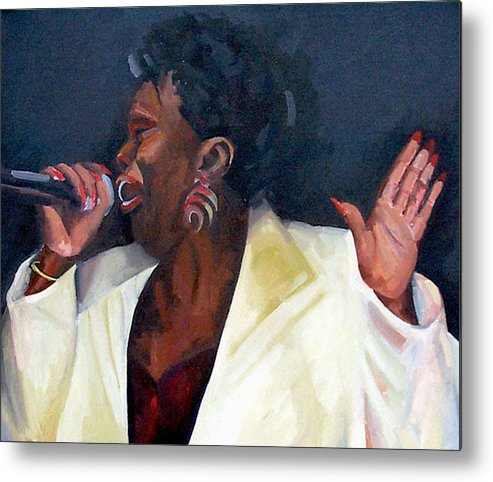 Portrait Metal Print featuring the painting Don't Boss Me Baby by Jackie Merritt