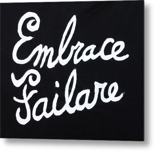Failure Metal Print featuring the painting Embrace Failare by John Kilduff
