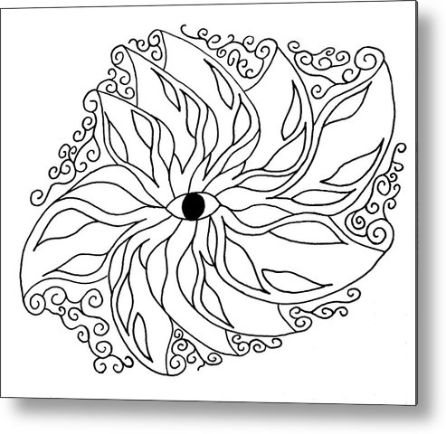Eye Metal Print featuring the drawing Eye by Trinity Bass