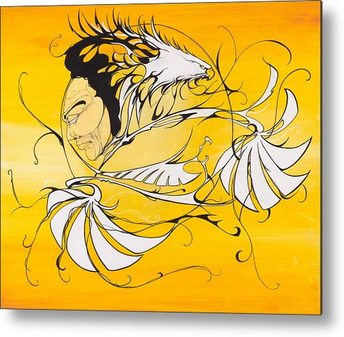 Eagle Metal Print featuring the painting Father's Prayer by Dallas Poundmaker