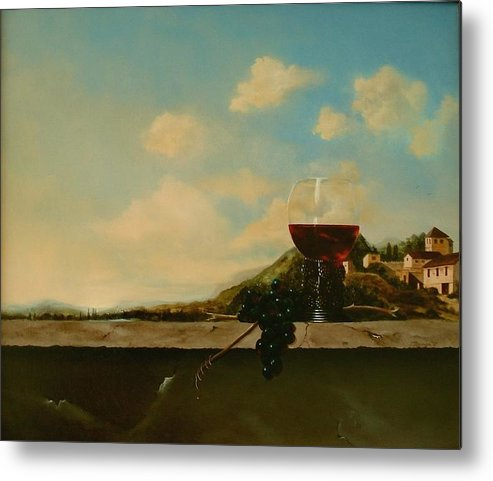 Roemer Metal Print featuring the painting Florence by Tjerk Reijinga