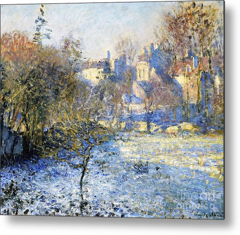 Frost Metal Print featuring the painting Frost by Claude Monet
