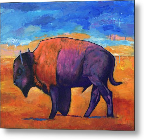 Animals Metal Print featuring the painting High Plains Drifter by Johnathan Harris
