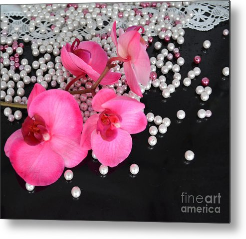 Orchid Metal Print featuring the photograph Hot Pink Orchids by To-Tam Gerwe