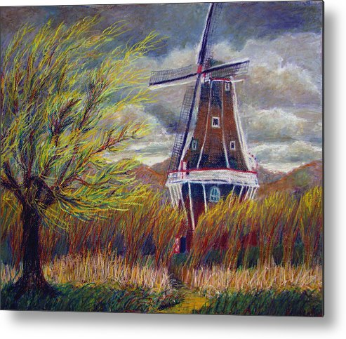 Art Nomad Metal Print featuring the painting Hurry Up by Art Nomad Sandra Hansen