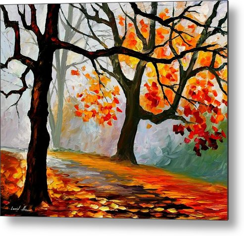 Landscape Metal Print featuring the painting Interplacement by Leonid Afremov