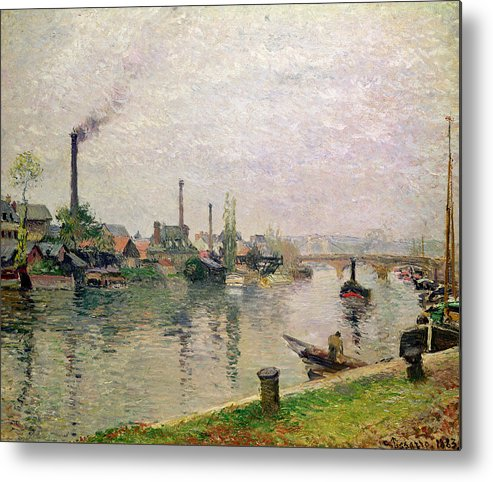 Ile Metal Print featuring the painting Island Of The Cross At Rouen by Camille Pissarro