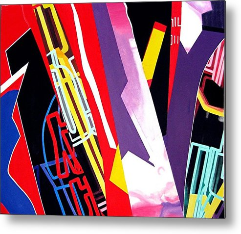 Jazz Metal Print featuring the painting Jazz by Barron Holland