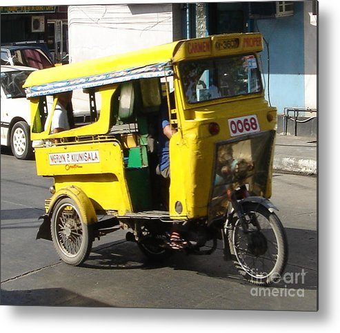 Jeepney Metal Print featuring the photograph Jeepney 07 by Mike Holloway