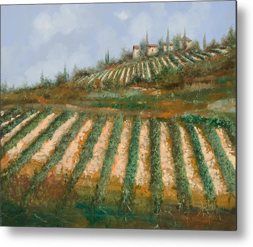 Vineyard Metal Print featuring the painting Le Case Nella Vigna by Guido Borelli