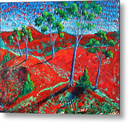 Landscape Metal Print featuring the painting Life Carries On by Rollin Kocsis