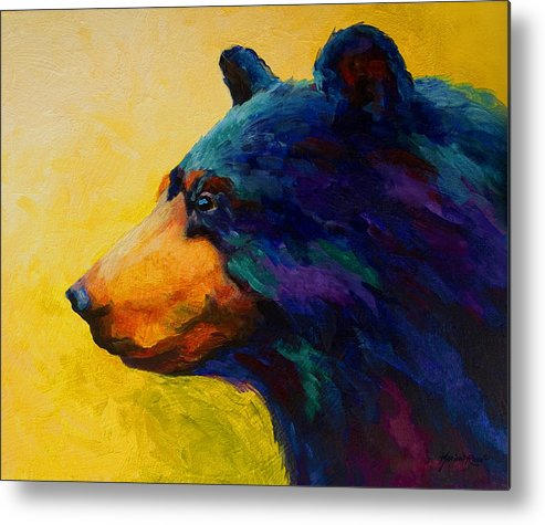 Bear Metal Print featuring the painting Looking On II - Black Bear by Marion Rose
