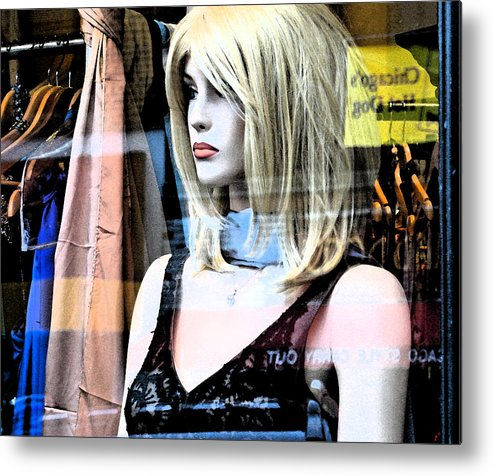 Modern Metal Print featuring the photograph Mannequin Window 4 by Gary Everson