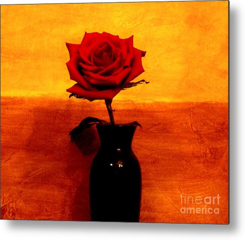 Photo Metal Print featuring the photograph Mexicalli Rose by Marsha Heiken