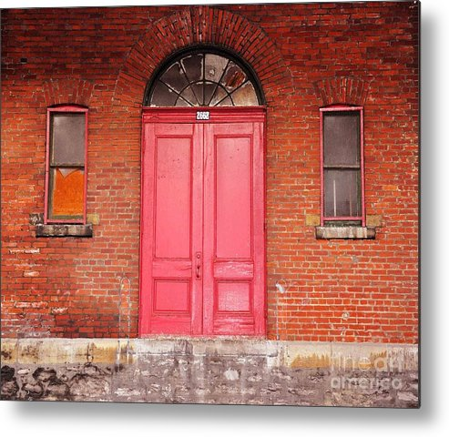 Red Doors Metal Print featuring the photograph Montreal Street Photography by Reb Frost