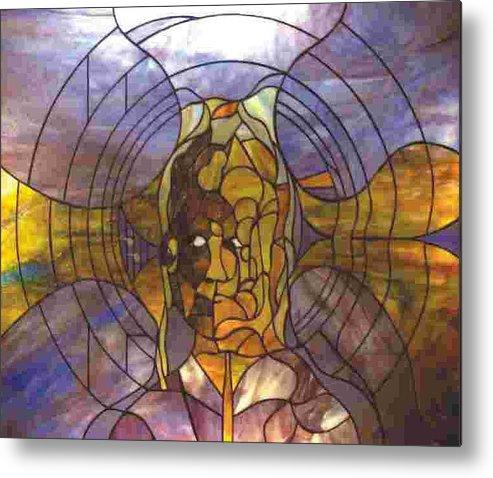 Portrait Metal Print featuring the glass art Music by Greg Gierlowski