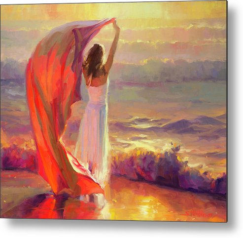 Ocean Metal Print featuring the painting Ocean Breeze by Steve Henderson