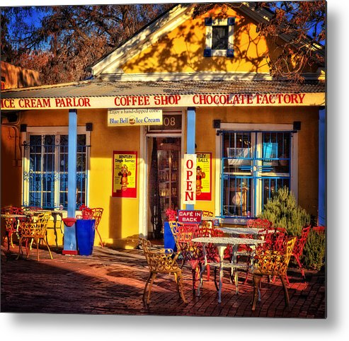 Old Town Albuquerque Metal Print featuring the photograph Old Town Ice Cream Parlor by Diana Powell