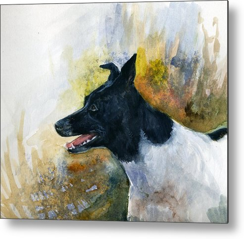Animal Metal Print featuring the painting Our Jack by Jimmie Trotter
