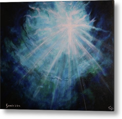 Deep Metal Print featuring the painting Out Of The Depths by Sonia Farrell
