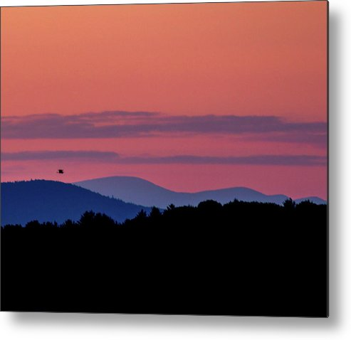 Landscape Metal Print featuring the photograph Pastel Sunset by David Lipsy