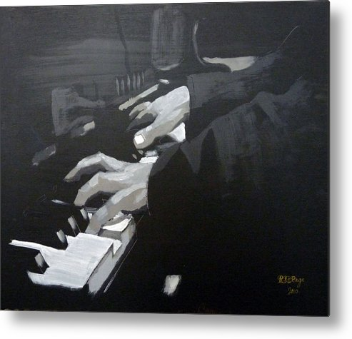 Piano Metal Print featuring the painting Piano Hands by Richard Le Page