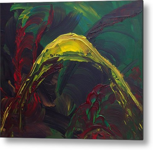 Abstract Metal Print featuring the painting Pleasure Past by Karen L Christophersen