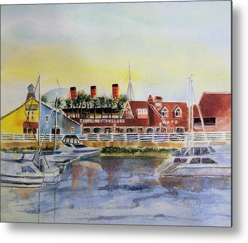 Watercolor Metal Print featuring the painting Queen Of The Shore by Debbie Lewis