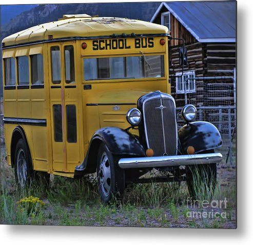Bus Metal Print featuring the photograph Retired From Service by Steven Parker