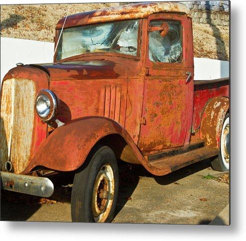 Rusty Metal Print featuring the photograph Rusty Chevrolet Pickup Truck 1934 by Douglas Barnett