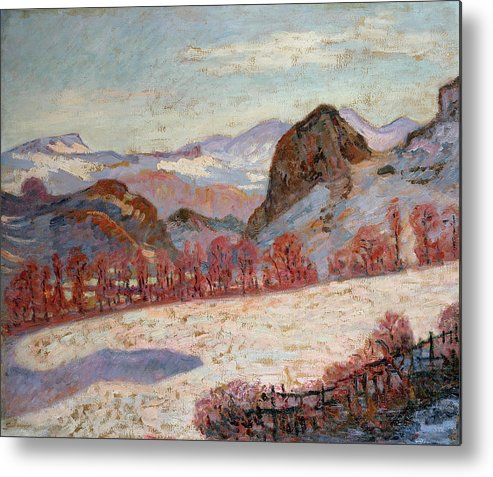 Sauves Metal Print featuring the painting Saint Sauves D'auvergne by Jean Baptiste Armand Guillaumin