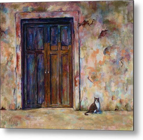 Doorway Metal Print featuring the painting Siesta by Billie Colson