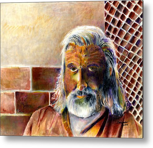 Man Metal Print featuring the painting Solitary by Arline Wagner
