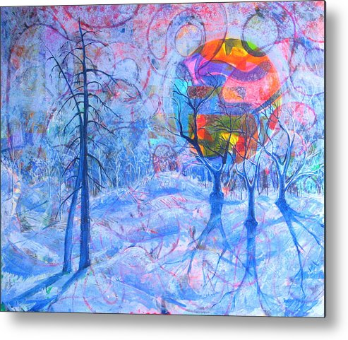 Winter Metal Print featuring the painting Solstice by Rollin Kocsis