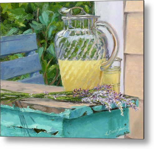 Lemonade Metal Print featuring the painting Summer's Harvest by L Diane Johnson