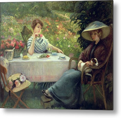 Tea Metal Print featuring the painting Tea Time by Jacques Jourdan