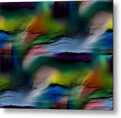 Abstract Metal Print featuring the digital art The Future Looks Bright by Ruth Palmer