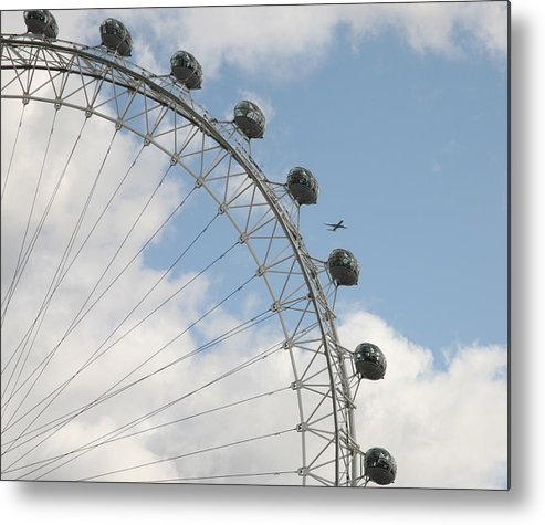 Ferris Metal Print featuring the photograph The London Eye by Christopher Rowlands