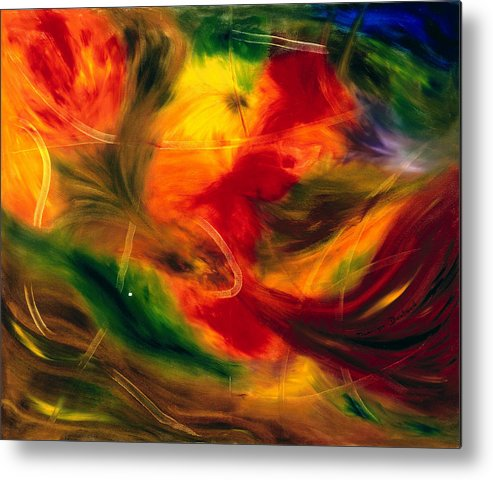 Abstract Metal Print featuring the painting Transparence De La Vie by Dominique Boutaud