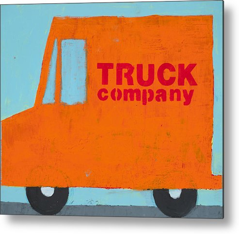 Truck Painting Metal Print featuring the painting Truck Co by Laurie Breen